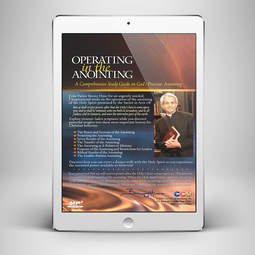 Operating in the Anointing - Benny Hinn Ministries