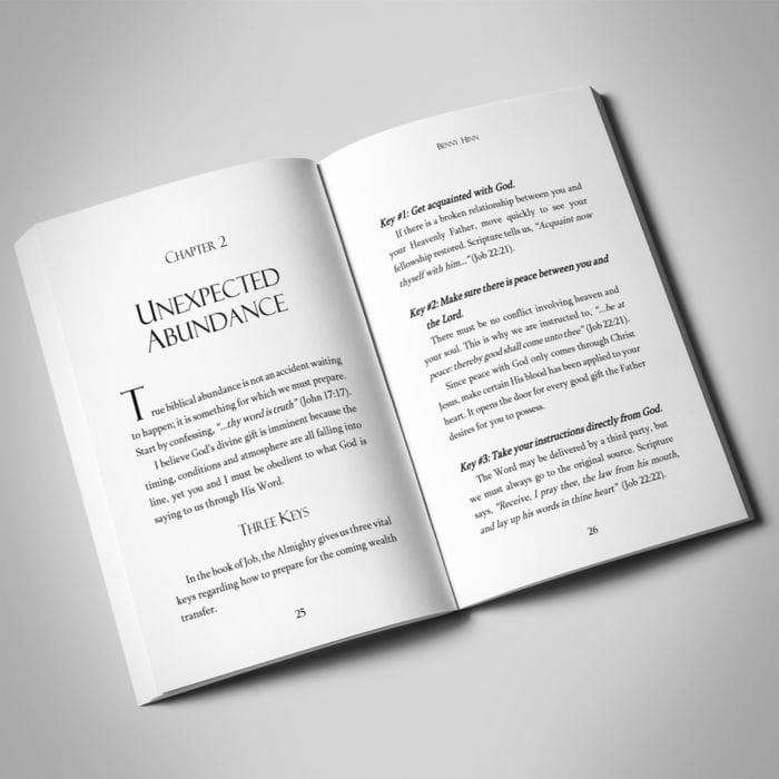 The Gift - Benny Hinn - Softcover Spread