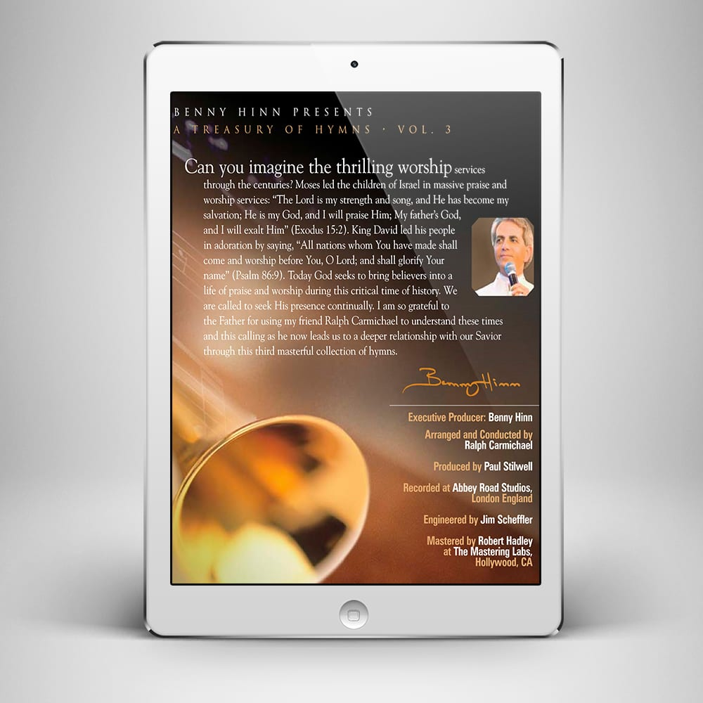 A Treasury of Hymns Vol 3 - Back Cover - Benny Hinn Ministries