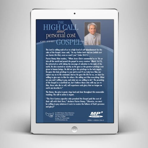 The High Call and Personal - Back Cover - Benny Hinn Ministries