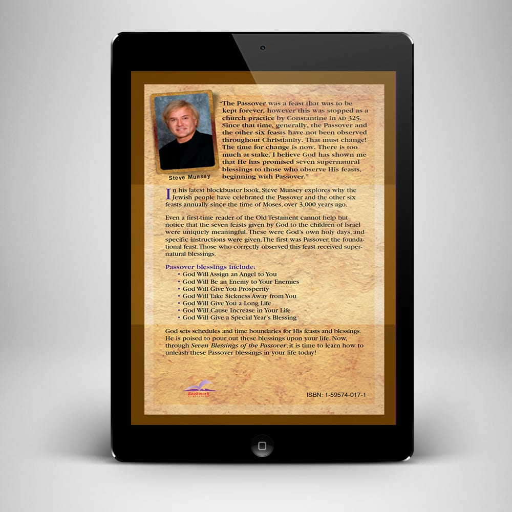 7 Blessings of The Passover eBook - back cover - Benny Hinn Ministries