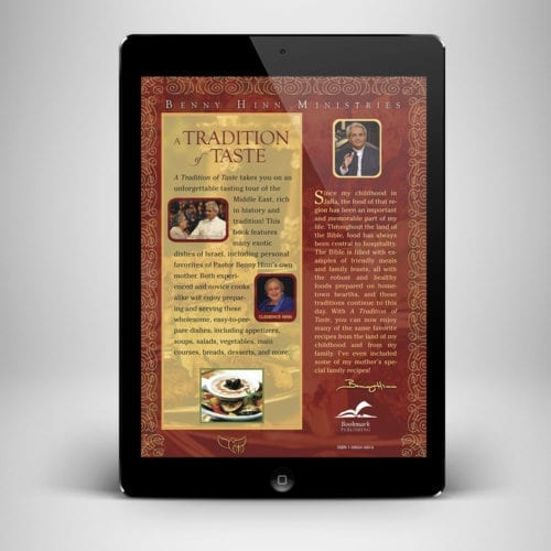 A Tradition of Taste Ebook - Back Cover - Benny Hinn Ministries