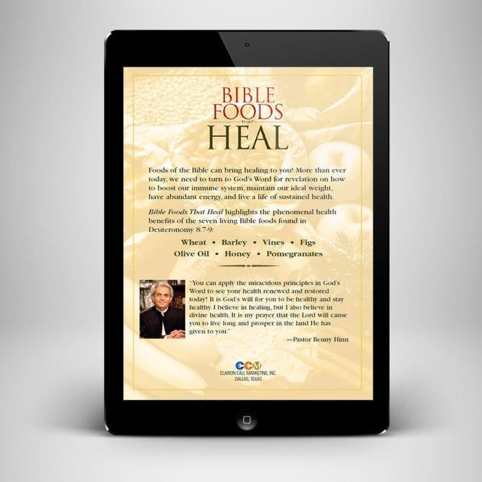 Bible Foods That Heal eBook - back cover - Benny Hinn Ministries