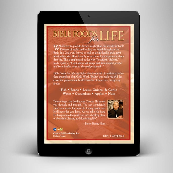 Bible Foods for Life eBook - back cover - Benny Hinn Ministries