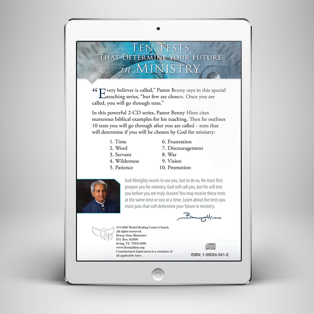 Preparation for Ministry - Back Cover - Benny Hinn Ministries