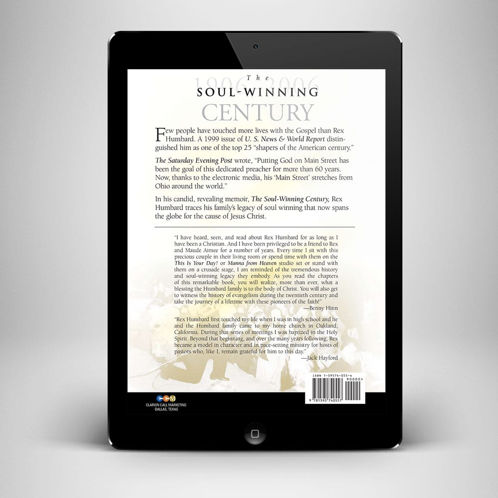 Soul Winning Century Ebook - Back Cover - Benny Hinn Ministries