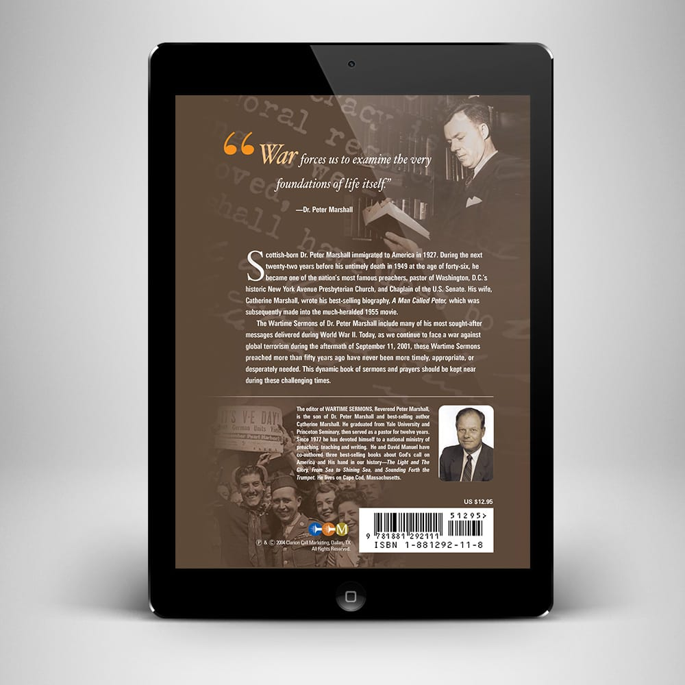 The Wartime Sermons eBook - Back Cover - Benny Hinn Ministries