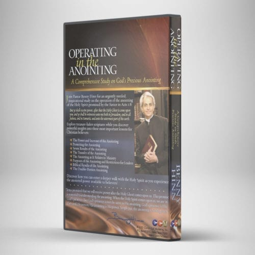 Operating in the Anointing - CD - Back View - Benny Hinn Ministries