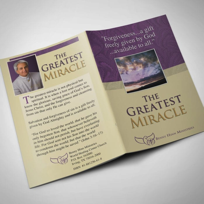 The Greatest Miracle - front-back - booklets - Benny Hinn Ministries