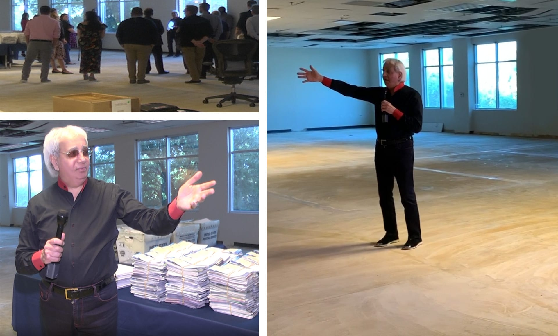 Pastor Benny touring the new This Is Your Day space.