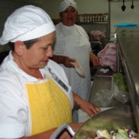 Kitchen Cooks Prepare Meal - My Fathers House Mexico - Benny Hinn Ministries